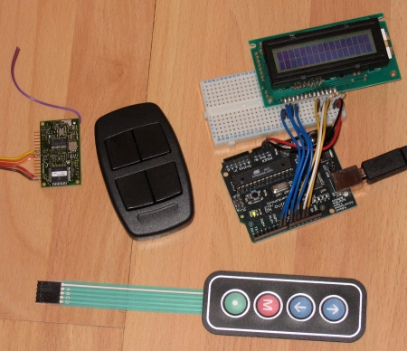Key parts for the timer